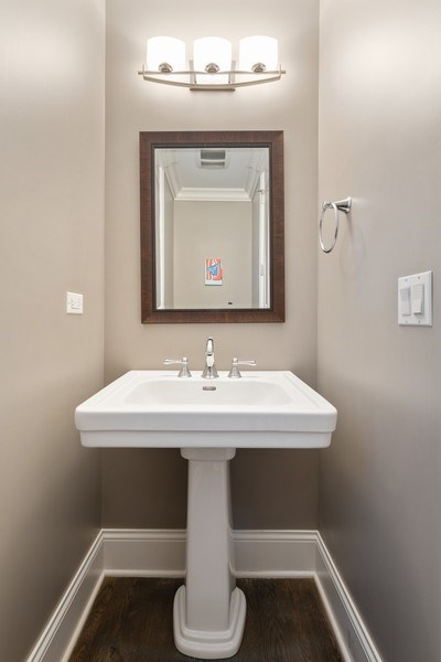 Real Estate Photography - 3336 N Claremont Ave, Chicago, IL, 60618 - Half Bath