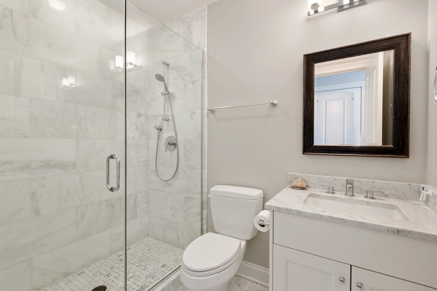 Real Estate Photography - 3336 N Claremont Ave, Chicago, IL, 60618 - 2nd Bathroom