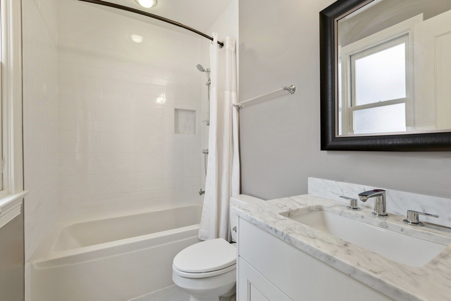 Real Estate Photography - 3336 N Claremont Ave, Chicago, IL, 60618 - 3rd Bathroom En Suite
