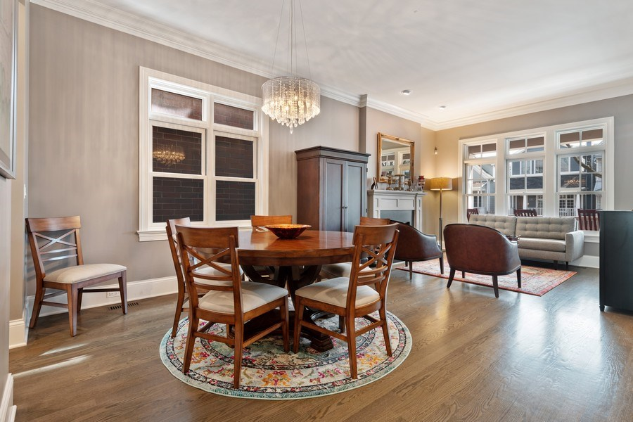 Real Estate Photography - 3336 N Claremont Ave, Chicago, IL, 60618 - Living Room / Dining Room
