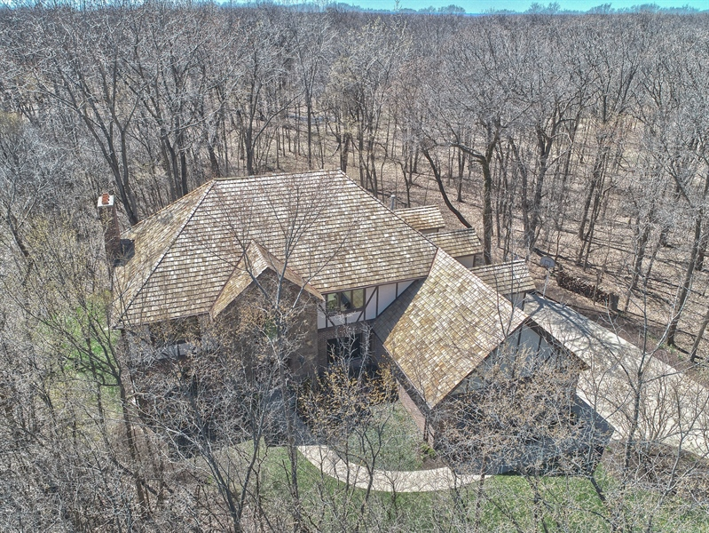 Real Estate Photography - 209 Northampton Lane, Lincolnshire, IL, 60069 - Aerial View