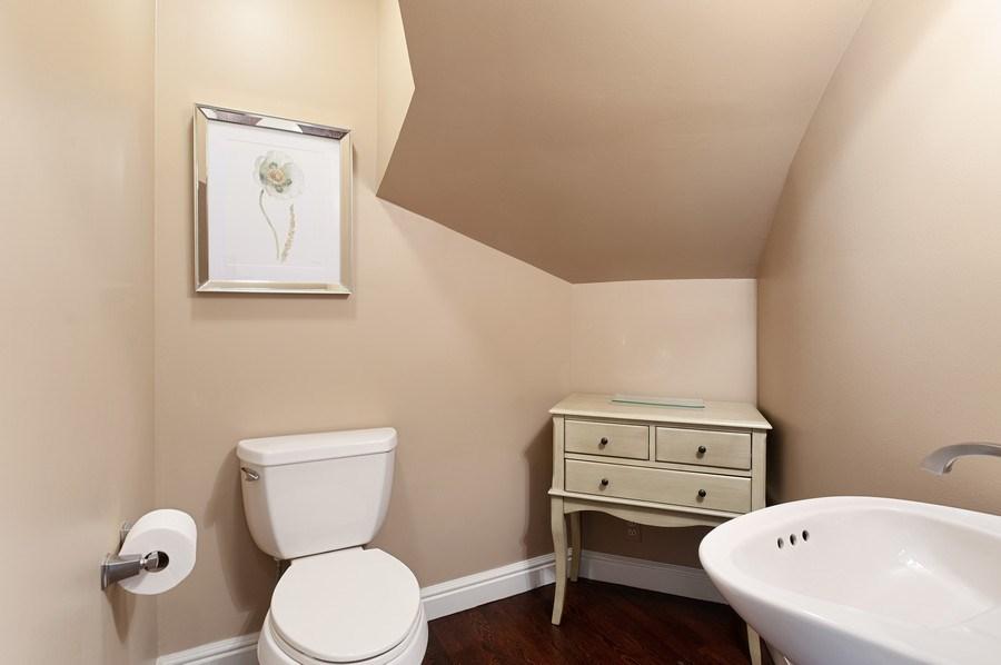 Real Estate Photography - 209 Northampton Lane, Lincolnshire, IL, 60069 - Powder Room