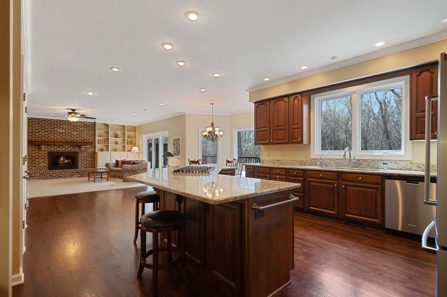 Real Estate Photography - 209 Northampton Lane, Lincolnshire, IL, 60069 - Family Room / Kitchen