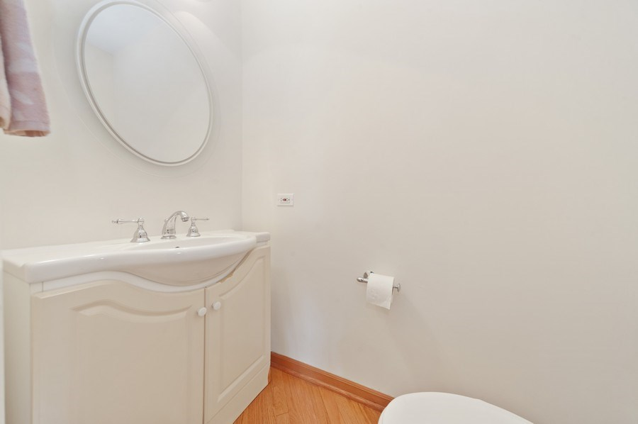 Real Estate Photography - 631 Indian Spring Lane, Buffalo Grove, IL, 60089 - Half Bathroom