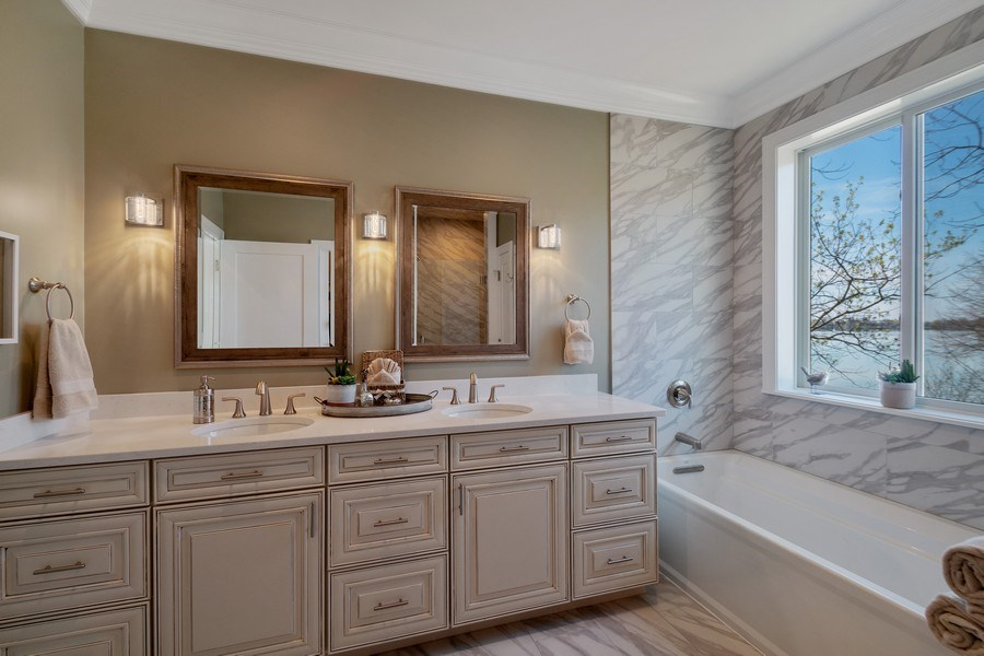 Real Estate Photography - 35 Roseanne Court, Twin Lakes, WI, 53181 - 4th Bathroom