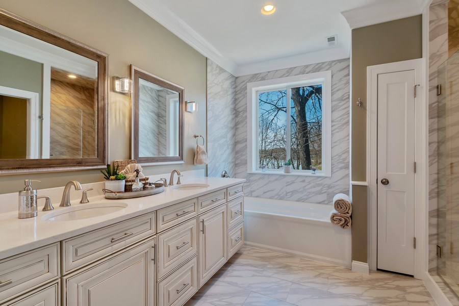 Real Estate Photography - 35 Roseanne Court, Twin Lakes, WI, 53181 - Master Bathroom