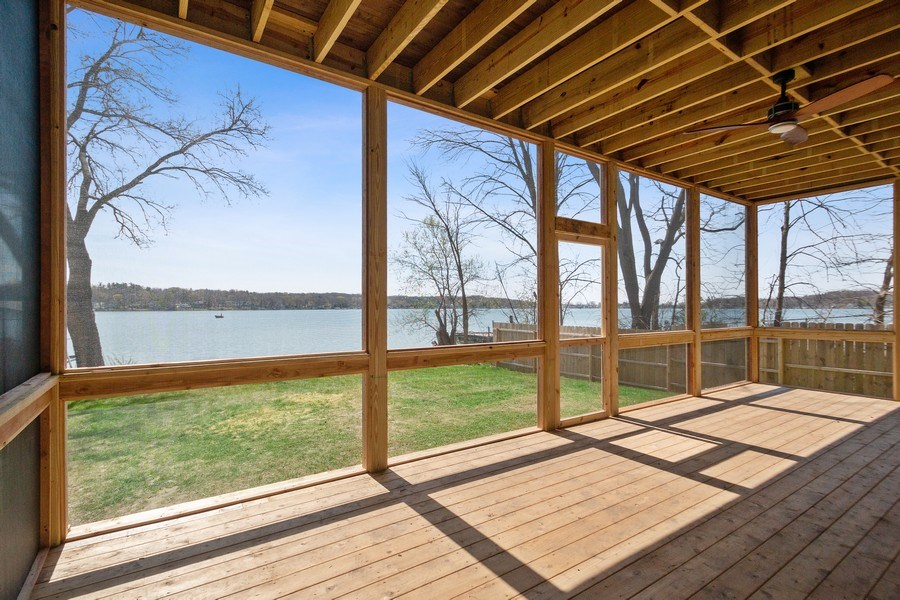 Real Estate Photography - 35 Roseanne Court, Twin Lakes, WI, 53181 - Lakeside Screened Porch
