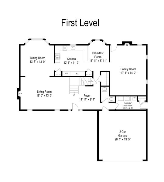 Real Estate Photography - 419 W. Whitehall Dr, Arlington Heights, IL, 60004 - Floor Plan