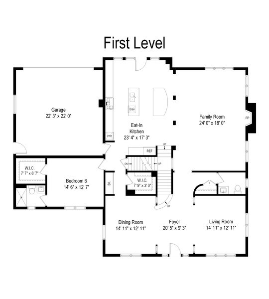 Real Estate Photography - 1680 Primrose lane, Glenview, IL, 60026 - Floor Plan