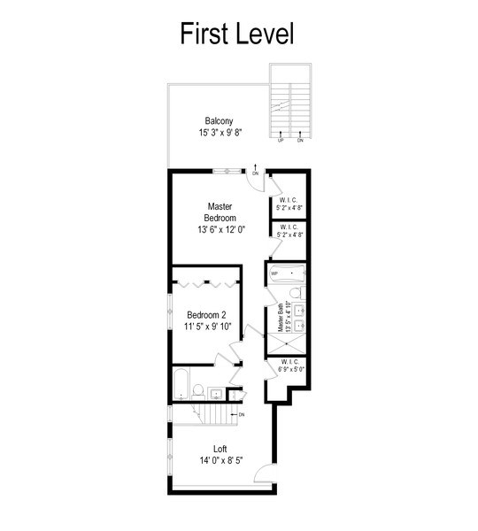 Real Estate Photography - 1339 N Mohawk #1N, Chicago, IL, 60610 - Floor Plan