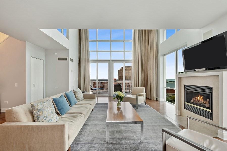 Real Estate Photography - 1640 Maple Avenue, Unit 1606, Evanston, IL, 60201 - Living Room