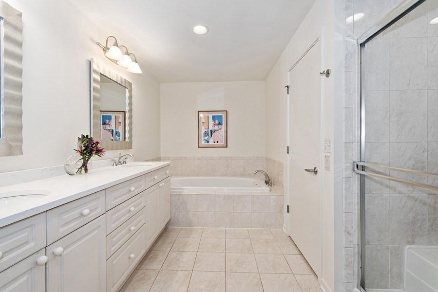 Real Estate Photography - 1640 Maple Avenue, Unit 1606, Evanston, IL, 60201 - Master Bathroom