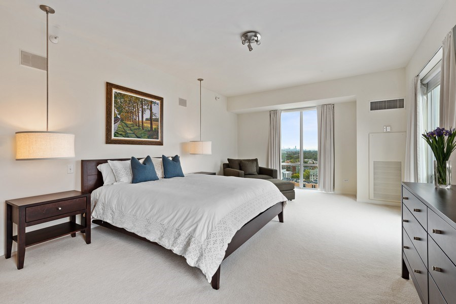 Real Estate Photography - 1640 Maple Avenue, Unit 1606, Evanston, IL, 60201 - Master Bedroom