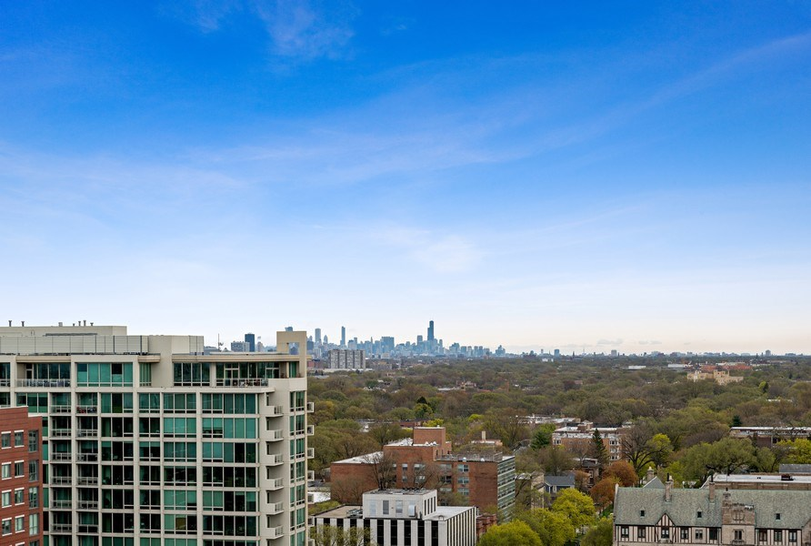 Real Estate Photography - 1640 Maple Avenue, Unit 1606, Evanston, IL, 60201 - View from Southern Balcony