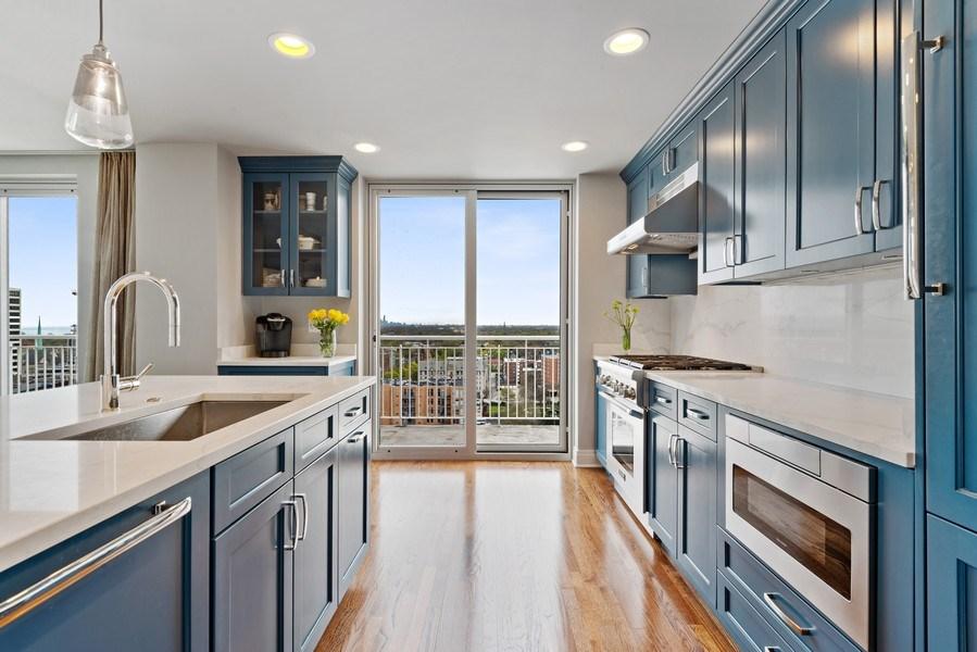 Real Estate Photography - 1640 Maple Avenue, Unit 1606, Evanston, IL, 60201 - Kitchen