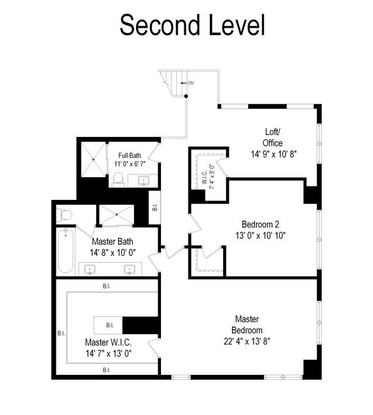 Real Estate Photography - 1640 Maple Avenue, Unit 1606, Evanston, IL, 60201 - Floor Plan