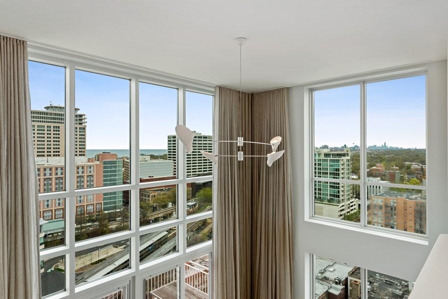 Real Estate Photography - 1640 Maple Avenue, Unit 1606, Evanston, IL, 60201 - Loft View