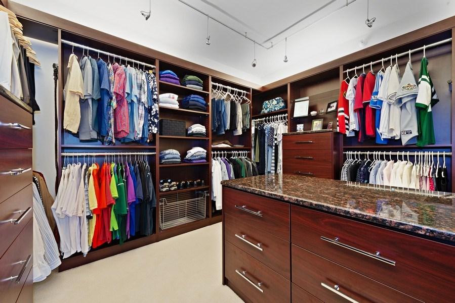 Real Estate Photography - 1640 Maple Avenue, Unit 1606, Evanston, IL, 60201 - Master Bedroom Closet/Dressing Area