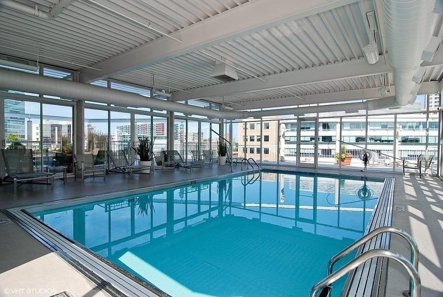 Real Estate Photography - 1640 Maple Avenue, Unit 1606, Evanston, IL, 60201 - Indoor Pool