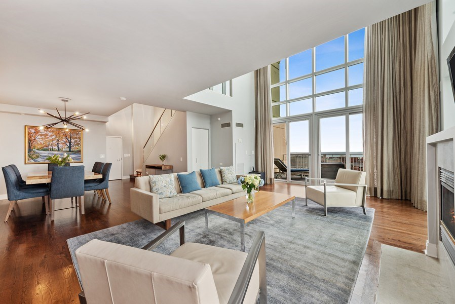 Real Estate Photography - 1640 Maple Avenue, Unit 1606, Evanston, IL, 60201 - Living Room / Dining Room