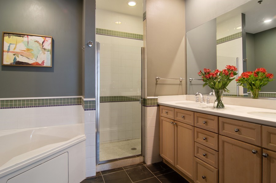 Real Estate Photography - 375 W. Erie St., 610, Chicago, IL, 60654 - Master Bathroom