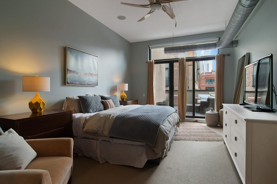 Real Estate Photography - 375 W. Erie St., 610, Chicago, IL, 60654 - Master Bedroom