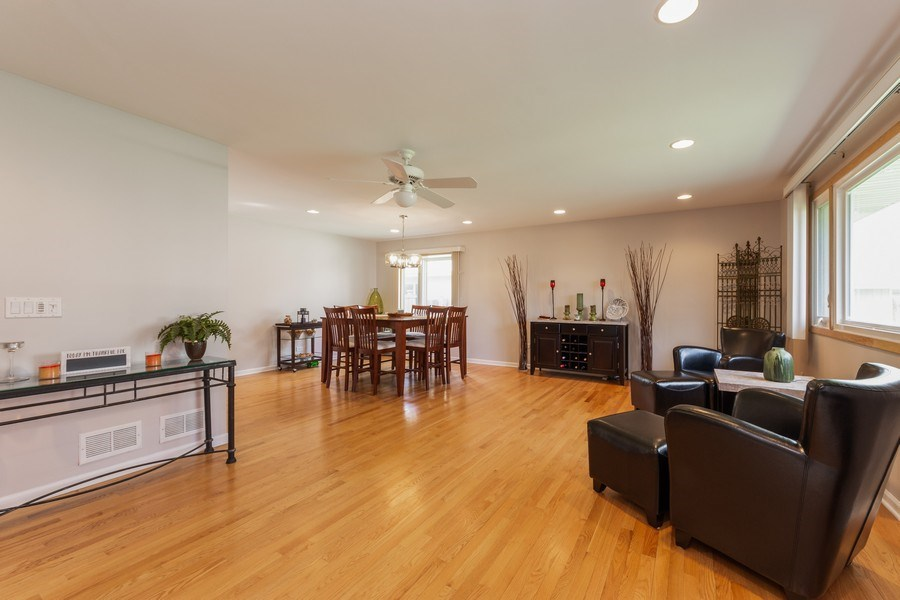 Real Estate Photography - 748 Warren, Palatine, IL, 60067 - Living Room / Dining Room