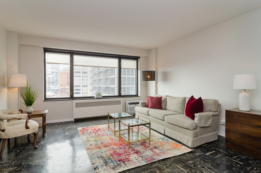 Real Estate Photography - 3100 N Lake Shore Dr, 902, Chicago, IL, 60657 - Living Room