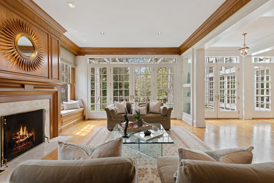 Real Estate Photography - 720 Rosewood, Winnetka, IL, 60093 - Living Room