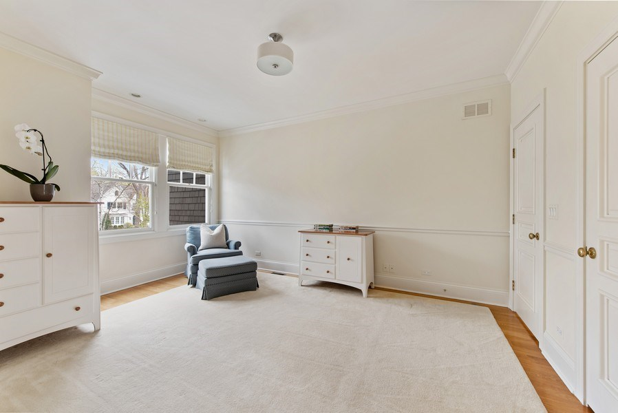 Real Estate Photography - 720 Rosewood, Winnetka, IL, 60093 - 2nd Bedroom