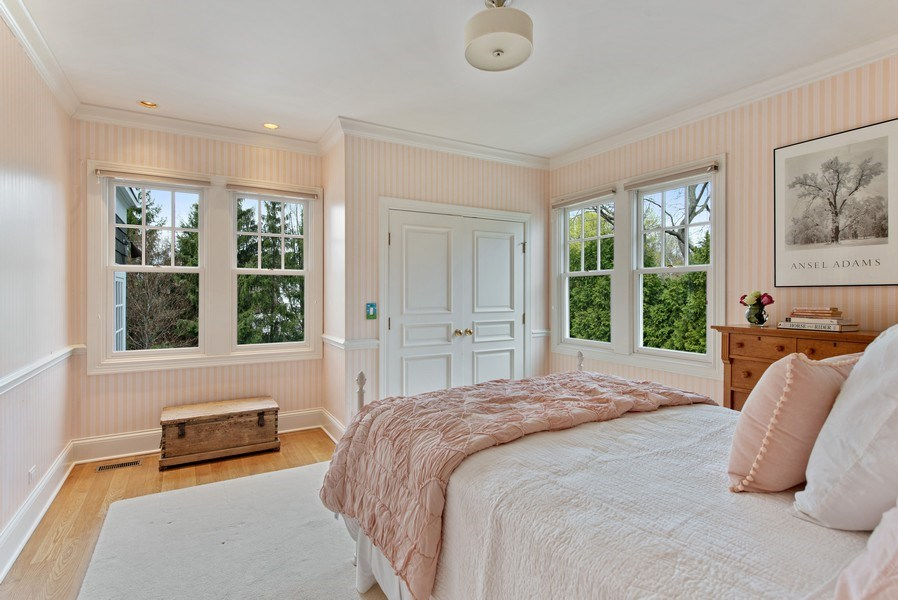 Real Estate Photography - 720 Rosewood, Winnetka, IL, 60093 - 4th Bedroom