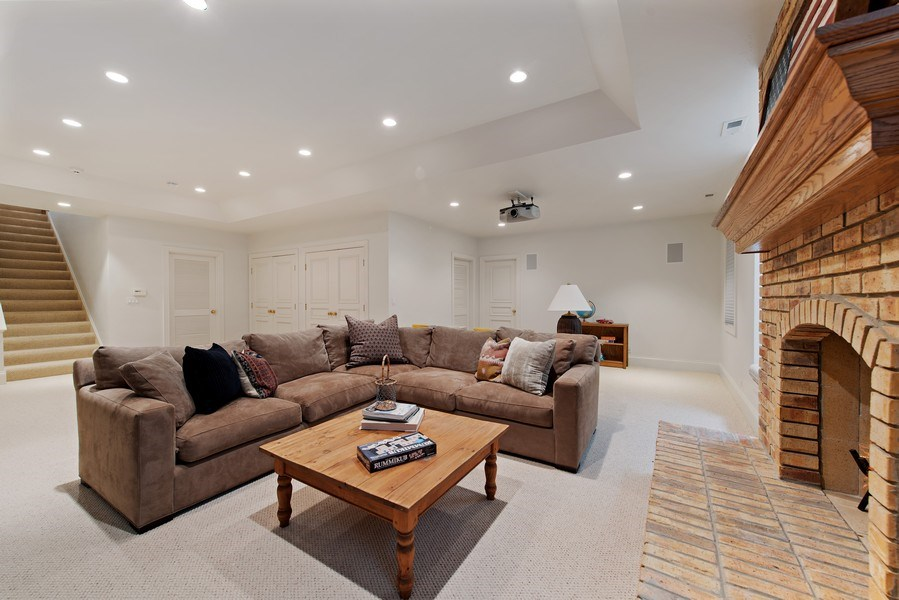 Real Estate Photography - 720 Rosewood, Winnetka, IL, 60093 - Lower Level