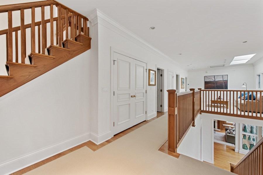Real Estate Photography - 720 Rosewood, Winnetka, IL, 60093 - 2nd Floor Corridor