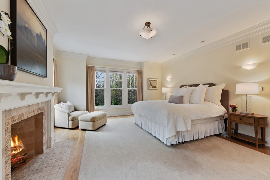 Real Estate Photography - 720 Rosewood, Winnetka, IL, 60093 - Master Bedroom
