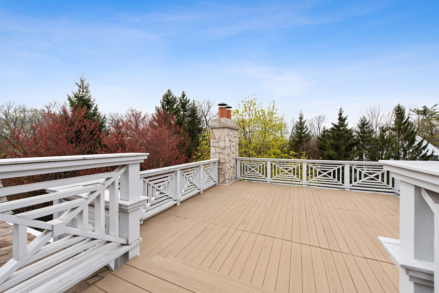 Real Estate Photography - 720 Rosewood, Winnetka, IL, 60093 - Roof Deck