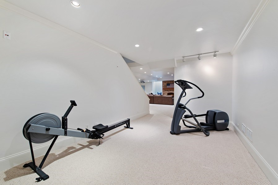 Real Estate Photography - 720 Rosewood, Winnetka, IL, 60093 - Exercise Room