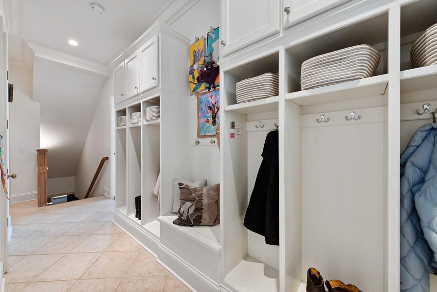 Real Estate Photography - 720 Rosewood, Winnetka, IL, 60093 - Mudroom