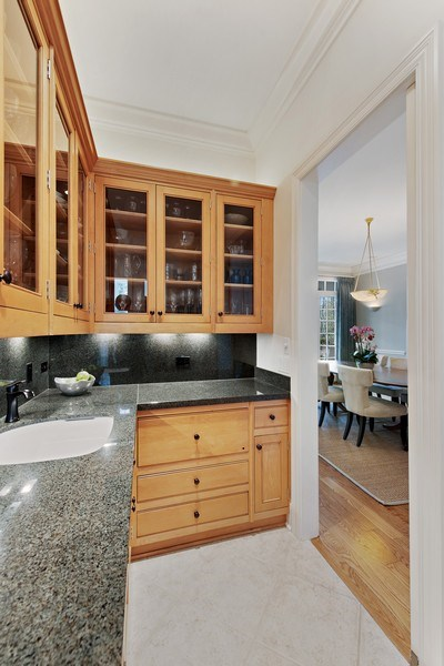 Real Estate Photography - 720 Rosewood, Winnetka, IL, 60093 - Butler's pantry
