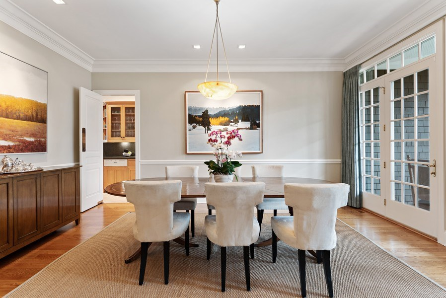Real Estate Photography - 720 Rosewood, Winnetka, IL, 60093 - Dining Room