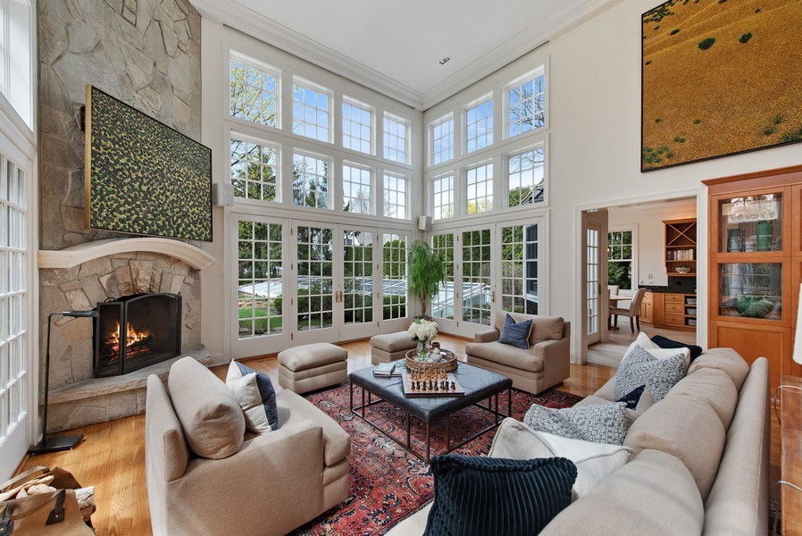 Real Estate Photography - 720 Rosewood, Winnetka, IL, 60093 - Family Room