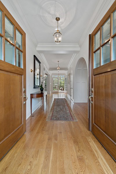 Real Estate Photography - 720 Rosewood, Winnetka, IL, 60093 - Entrance