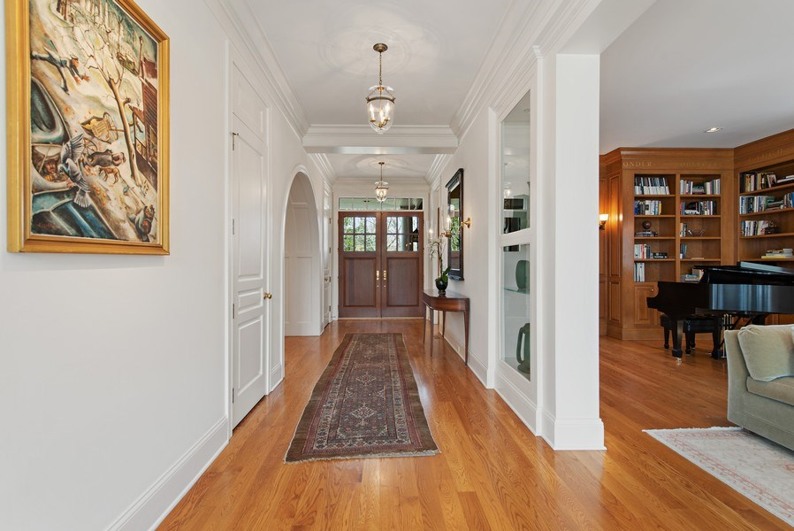 Real Estate Photography - 720 Rosewood, Winnetka, IL, 60093 - Foyer