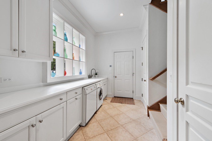 Real Estate Photography - 720 Rosewood, Winnetka, IL, 60093 - Laundry Room