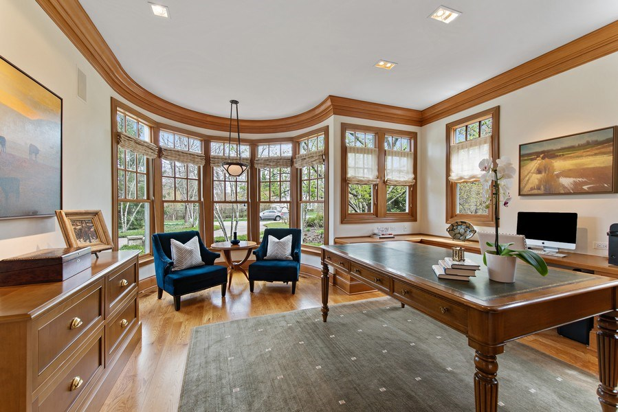Real Estate Photography - 720 Rosewood, Winnetka, IL, 60093 - Office