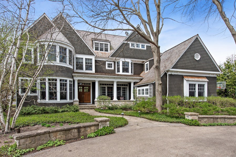 Real Estate Photography - 720 Rosewood, Winnetka, IL, 60093 - Front View
