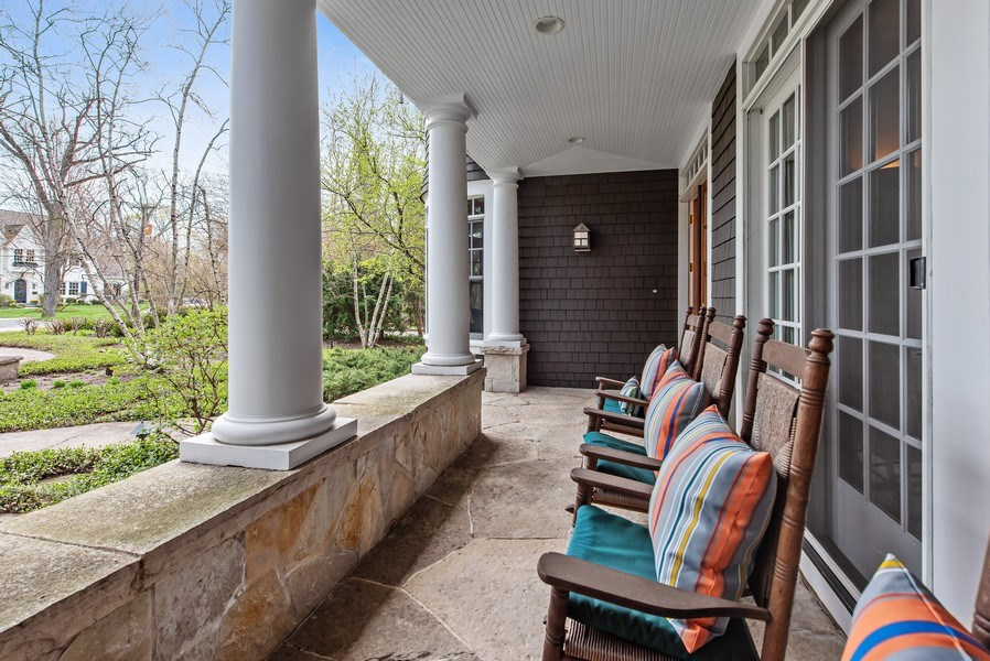 Real Estate Photography - 720 Rosewood, Winnetka, IL, 60093 - Porch