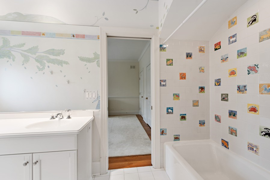 Real Estate Photography - 720 Rosewood, Winnetka, IL, 60093 - 2nd Bathroom