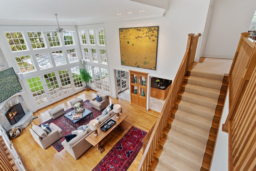 Real Estate Photography - 720 Rosewood, Winnetka, IL, 60093 - Family Room / Kitchen