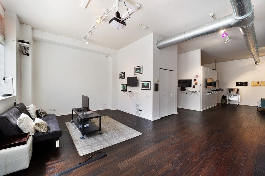 Real Estate Photography - 2418 W Bloomingdale Avenue, Unit 102, Chicago, IL, 60647 - Living Room