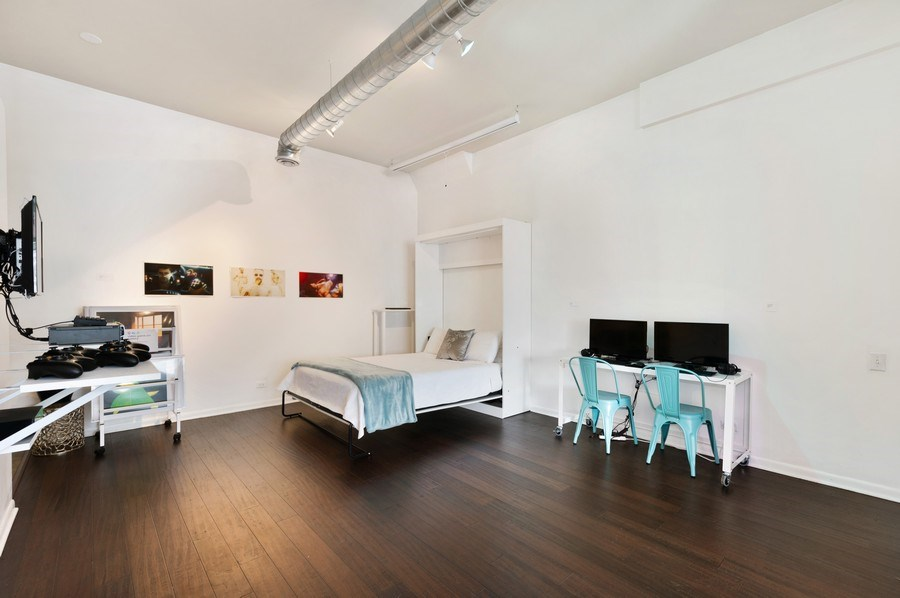 Real Estate Photography - 2418 W Bloomingdale Avenue, Unit 102, Chicago, IL, 60647 - Bedroom